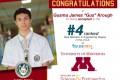 Congratulations to our Senior student, Gusma Krough